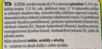 Nesquik - Ingredients - cs