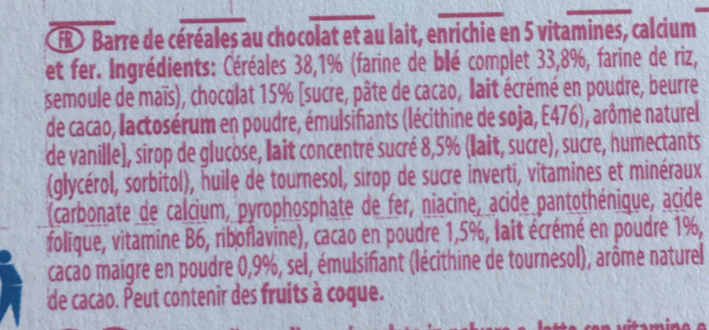 Barres céréales Maxi Choco - Ingrediënten