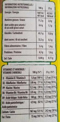 NESQUIK Maxi Choco Barre de Céréales - Voedingswaarden - fr