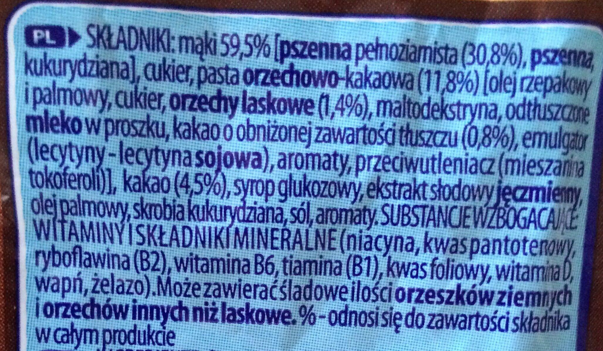 Chocapic - smak choco-orzechowy - Składniki - pl