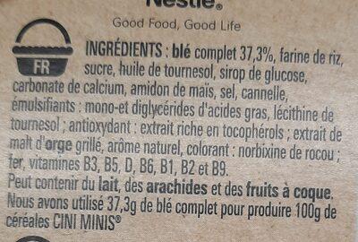 CINI MINIS céréales petit-déjeuner - Ingredienti - fr