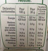 CINI MINIS céréales petit-déjeuner - Valori nutrizionali - fr