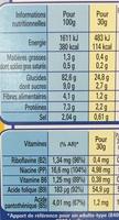 Corn Flakes Sans Gluten - Información nutricional