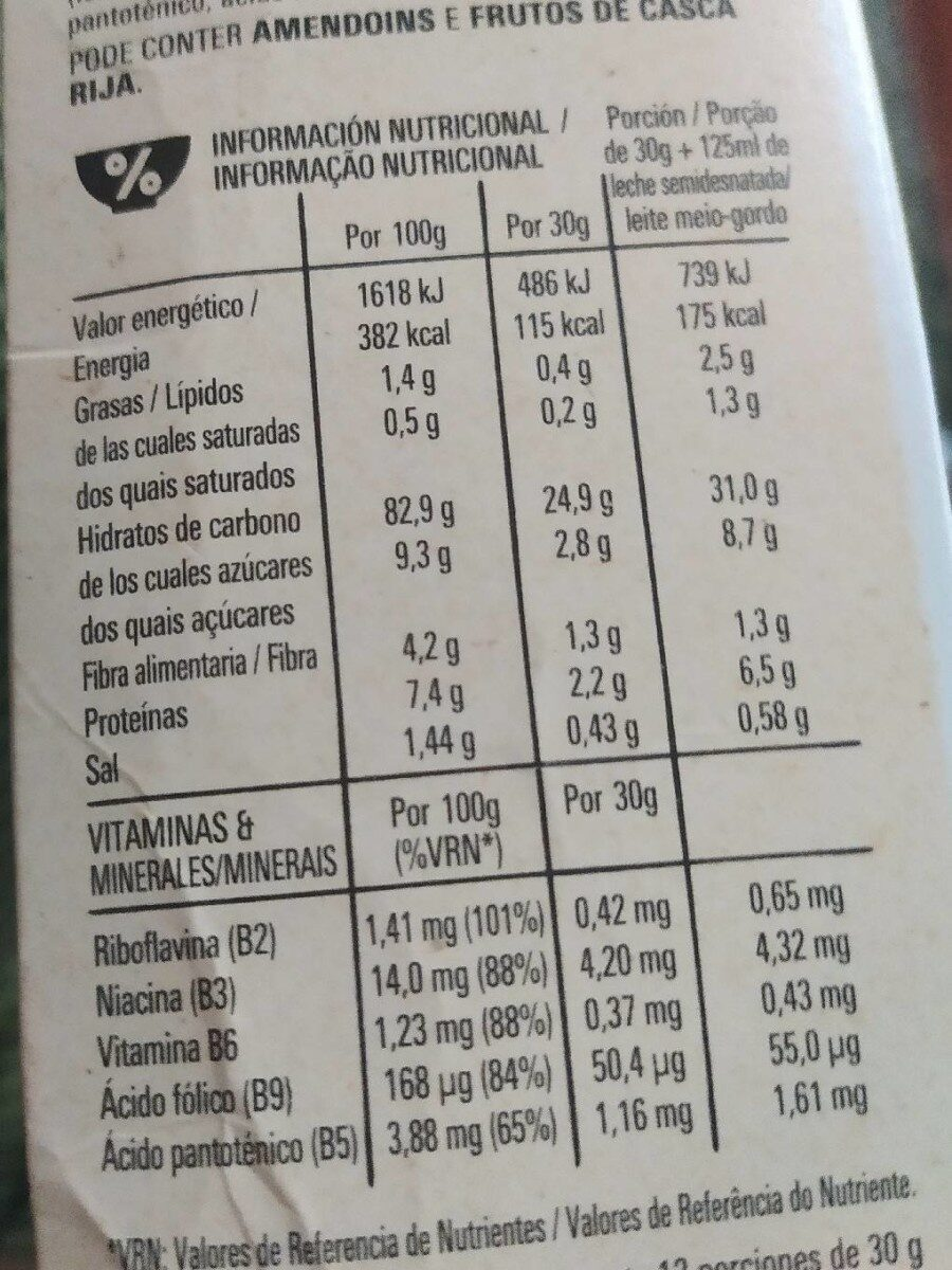 Corn Flakes Gluten-frei - Informations nutritionnelles - fr
