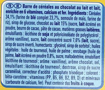 NESQUIK Delice Barres de Céréales - Ingrediënten - fr