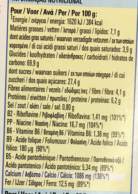 Barre de céréales Fitness Delice Choco Noisette - Voedingswaarden - fr