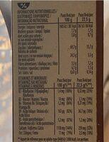 Fitness Délice - Chocolat au lait - Informations nutritionnelles - fr