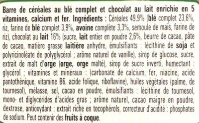 Fitness Délice Chocolat au lait - Ingrédients - fr