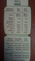 Fitness Délice Chocolat au lait - Informations nutritionnelles - fr