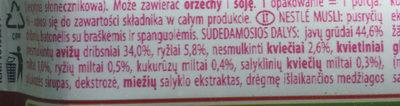 Musli - Ingredients - lt