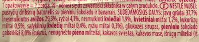 Musli Chocolate & Banana - Ingredients - lt