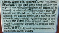 Chocapic - Ingrédients - fr