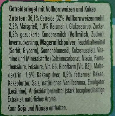 Nesquik Riegel 4er - Ingredients