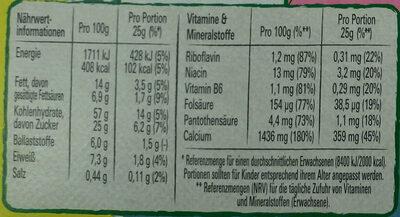 Nesquik Riegel 4er - Nutrition facts