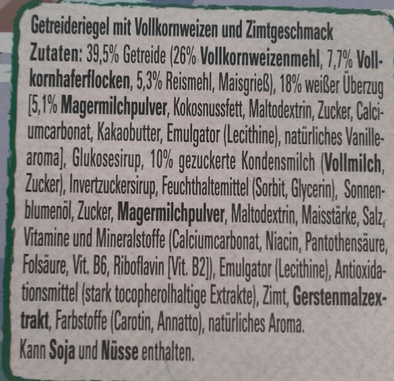 Cini Minis Riegel - Ingrediënten - de