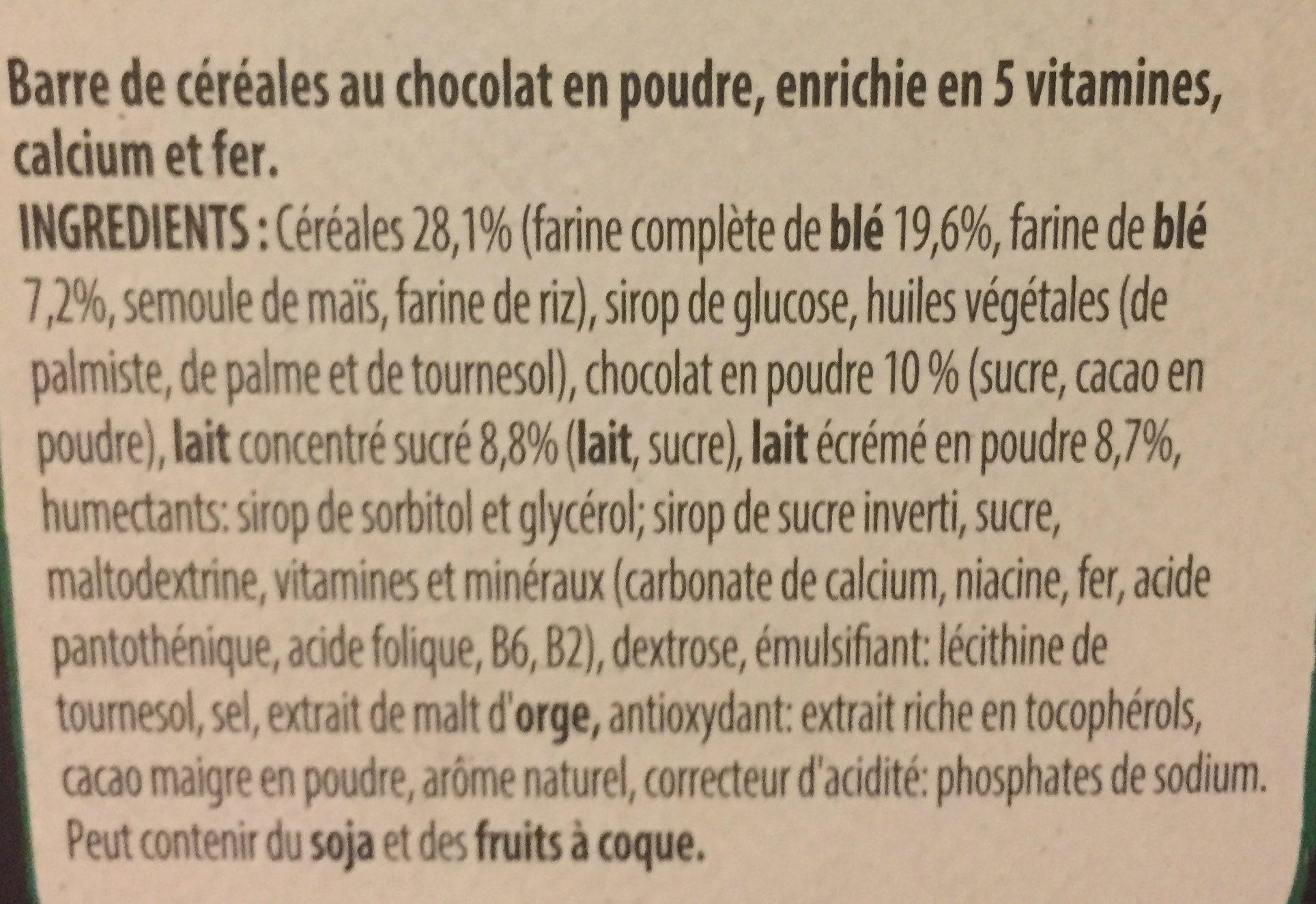NESTLE CHOCAPIC Barres de Céréales 12x25g - Ingredienti - fr