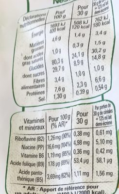 Gofree - Informations nutritionnelles