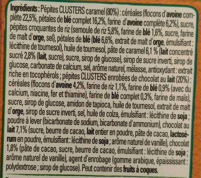 Clusters Crunchy Muesli Caramel - Ingrédients