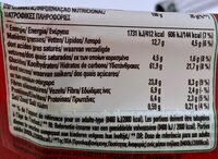 Clusters barre crunchy choco - Informazioni nutrizionali - fr