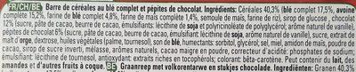 Clusters crunchy choco - Ingredients