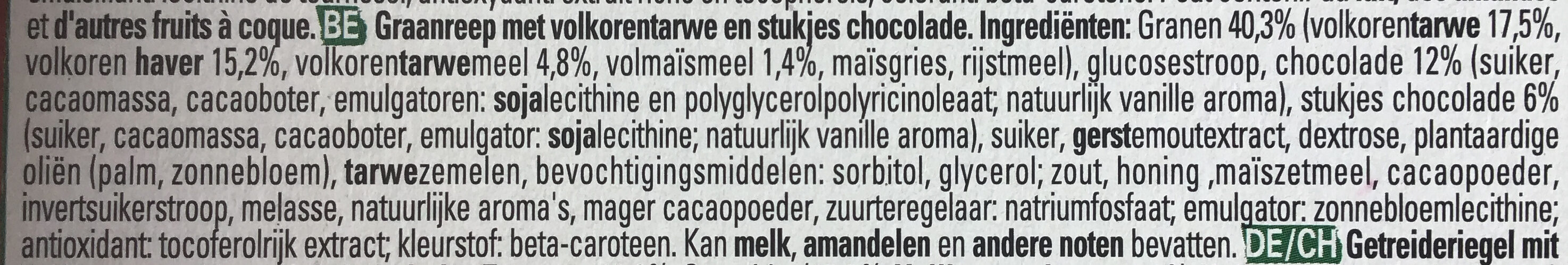 Clusters crunchy choco - Ingrediënten - nl