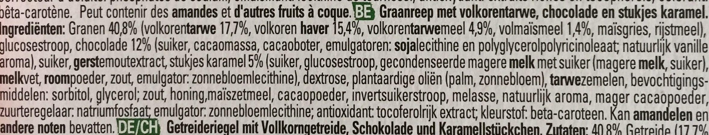 Clusters Caramel & Choco - Ingrediënten - nl