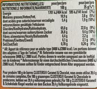 Clusters Caramel & Choco - Informations nutritionnelles - fr