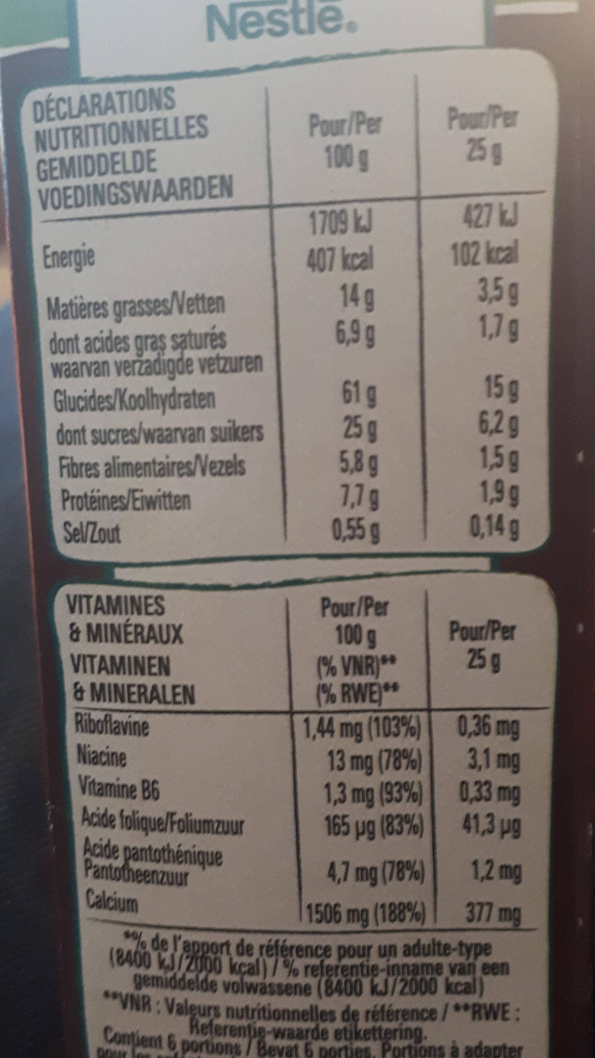 Lion breakfast cereal bar - Voedingswaarden - fr