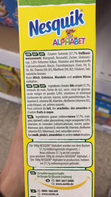 NESQUIK Alphabet Céréales Petit Déjeuner - Produkt