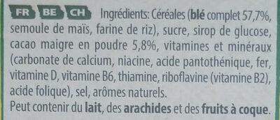 NESQUIK Alphabet Céréales Petit Déjeuner - Ingredientes - fr