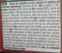 Clusters crunchy choco - Ingrediënten - fr