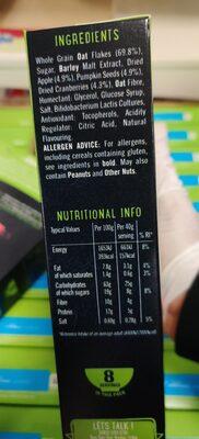 Wholegrain oat flakes - Ingredients