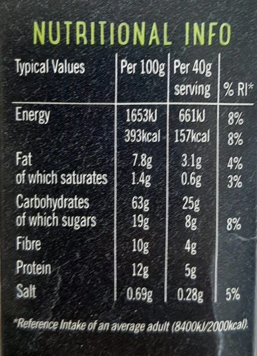 Wholegrain oat flakes - Nutrition facts - en