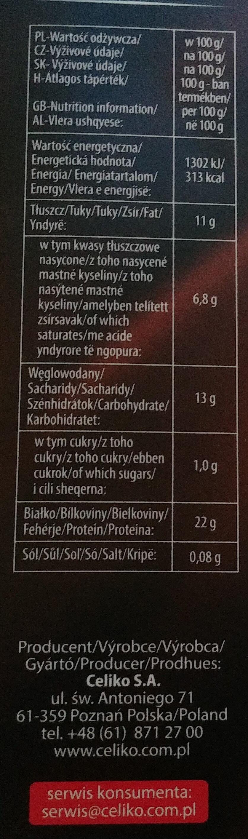 Kakao o obniżonej zawartości tłuszczu - Voedingswaarden - pl