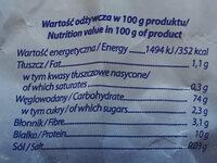 Mąka tortowa puszysta - Informations nutritionnelles - pl