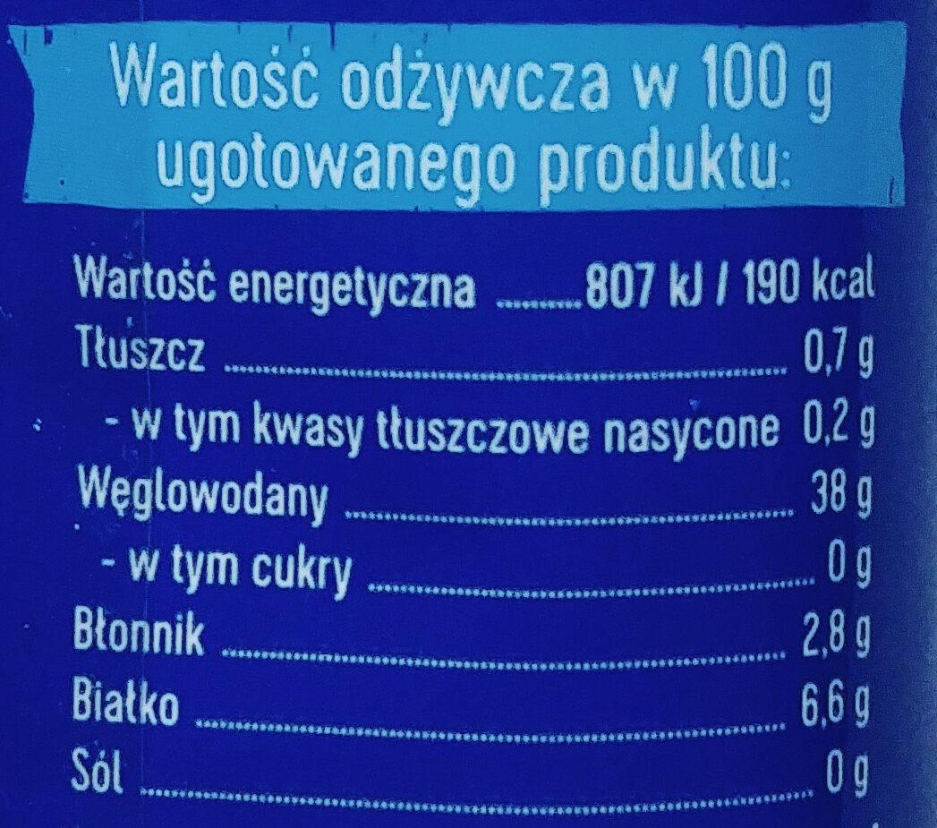 Makaron spaghetti - Nutrition facts - pl