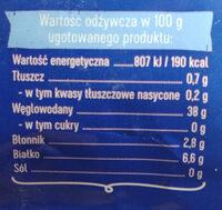 Makaron muszelki nr 26 - Wartości odżywcze