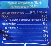Makaron Lubella Pióra nr 17 - Wartości odżywcze