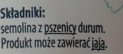 Makaron kokardki - Ingrédients - pl