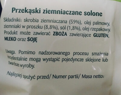 Prażyny solone - Ingredients