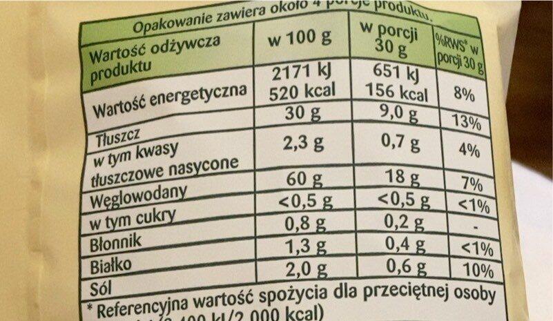 Prazynki - Nutrition facts - pl