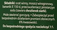 Ocet balsamiczny 6% - Składniki