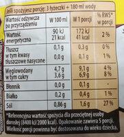 Barszcz czerwony - Nutrition facts