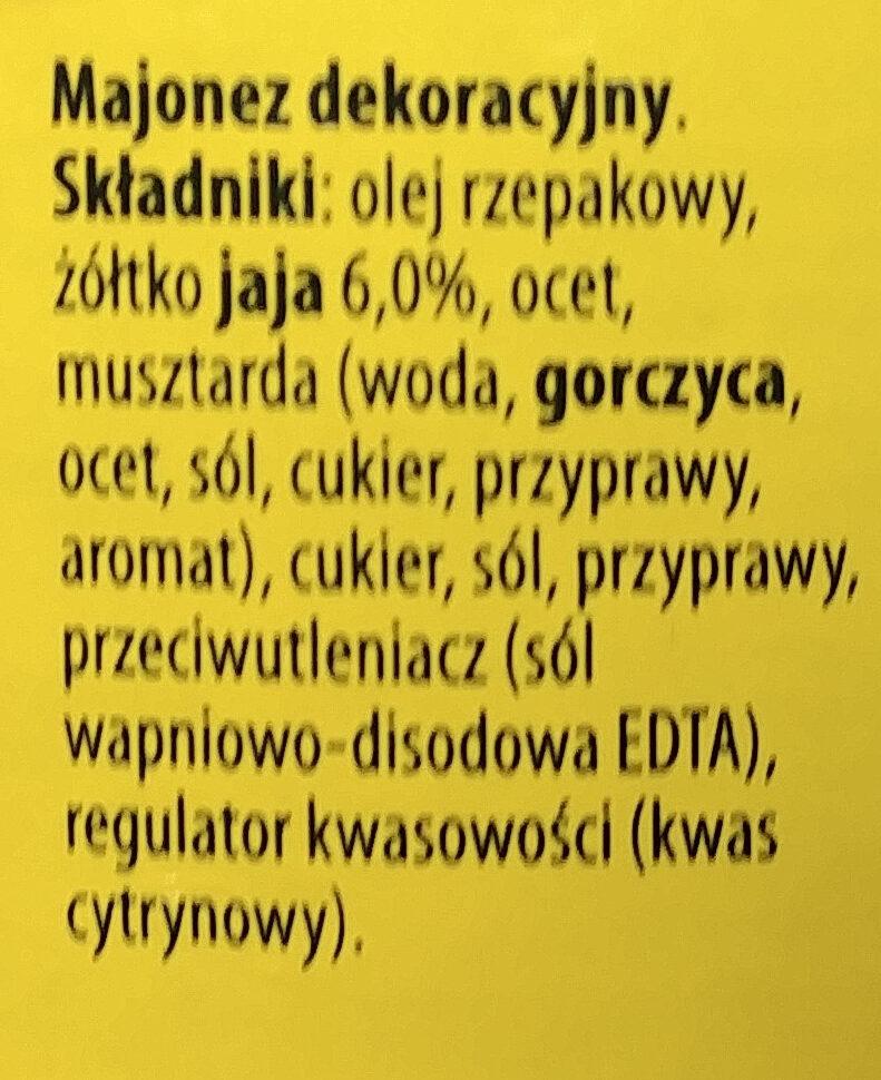 Majonez Dekoracyjny - Ingrediënten