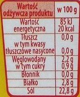 Przyprawa w płynie z wyciągiem z lubczyku - Nutrition facts