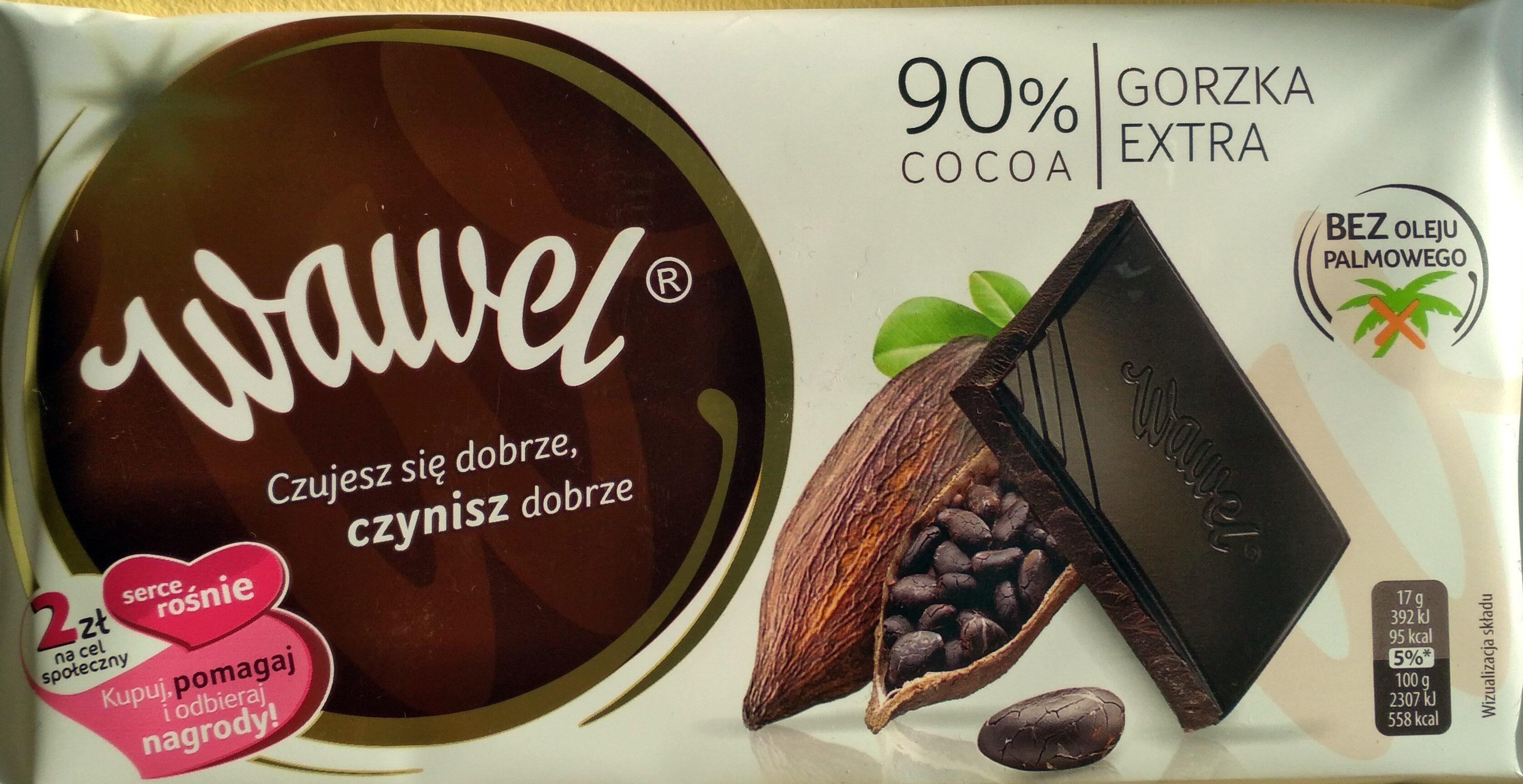 Czekolada Gorzka Extra , Cocoa 90% - Produkt