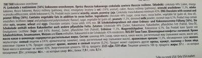 Wawel Tiki Taki 430G - Ingredients - fr