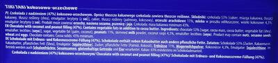 Czekolada z nadzieniem 47% kokosowo-orzechowym. - Składniki - pl