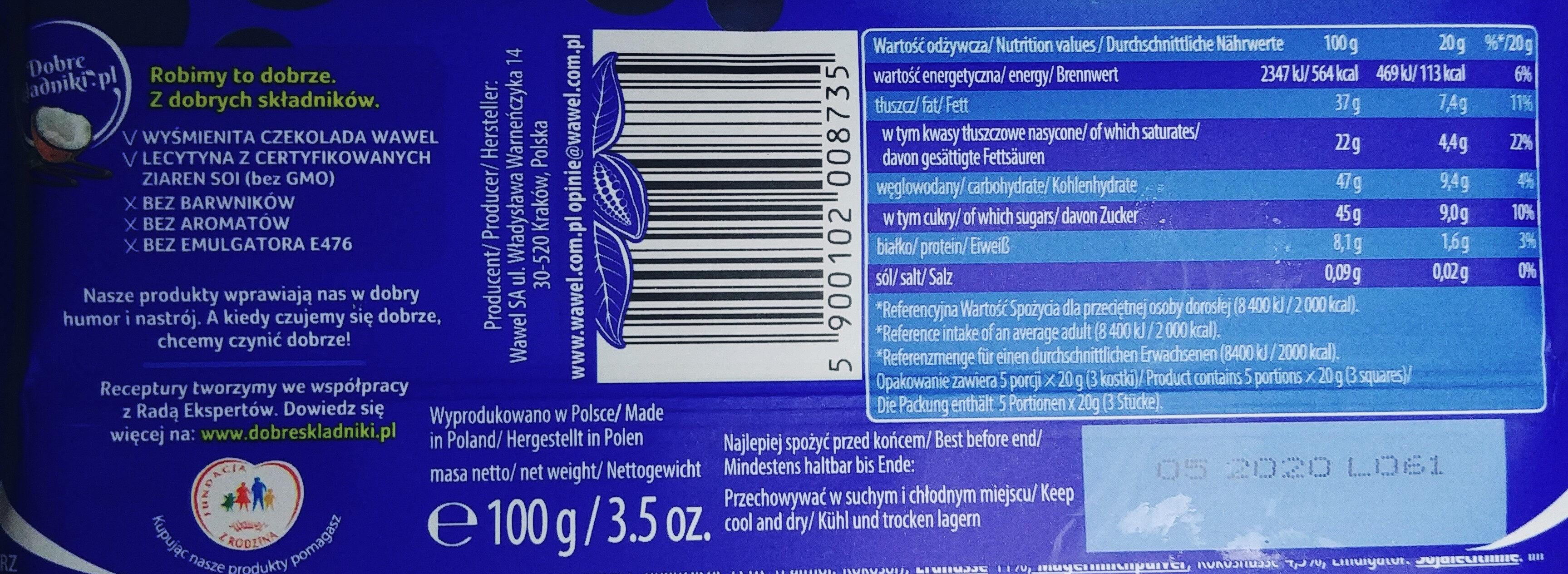 Wawel - Wartości odżywcze