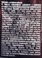 Tofflairs czekoladowo-mleczny - Składniki